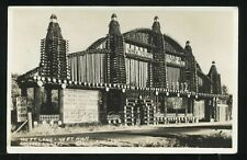 OR Oregon Woods Camp RPPC c1930 ROADSIDE ATTRACTION Giant Log Building on Hwy 99