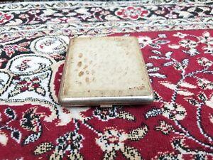 Old Original Rare Skin Textured Tin Cigarette Case Germany