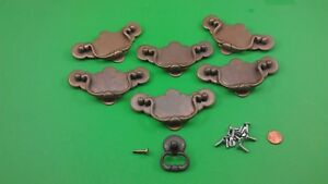 6 + 1 METAL DRESSER DRAWER HANDLES/PULLS
