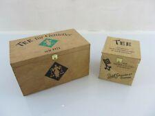 2 Teeboxen aus Holz von Paul Schrader, Bremen