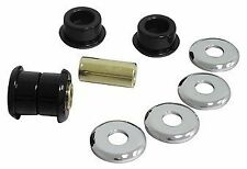 HARLEY HANDLEBAR RISER BUSH KIT. HEAVY DUTY URETHANE WITH CHROME WASHERS.
