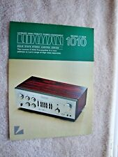 1970s LUX Luxman C-1010  Control Center 2 Sided Page Brochure Pamphlet