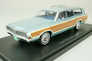 Ford Ltd country squire Station 1968 Blue - Wood 1/43 Neo 47300 New
