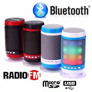 CASSA PORTATILE CON RADIO FM SD USB BLUETOOTH MP3 SMARTPHONE SPEAKER CON LED WS