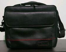 TARGUS LAPTOP BLACK LEATHER CARRY ON BRIEFCASE BAG With SHOULDER STRAP (6)