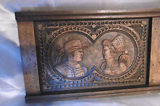 tableau sculpture bois tete de bretons ou vendéens