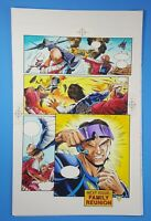 H.A.R.D. Corps #28 page 21 Valiant Comics ORIGINAL COLOR ART Hand Painted 1995