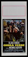 Plakat Cobra Verde Werner Herzog Klaus Kinski Berling Afrika Sklave Vice N65