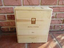 "Alpha Omega Era Empty Wooden Three Bottle Gift Wine Box, 14.5"" Tall (1pc)"