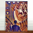 """Georges Seurat The Can Can ~ FINE ART CANVAS PRINT 36x24"""""""
