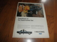 "1966 FORD MUSTANG  AD-""Sweetheart of the Supermarket Set""-Original  Print"