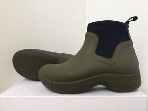 Celine Phoebe Philo Rubber Ankle Boots Khaki EU 37