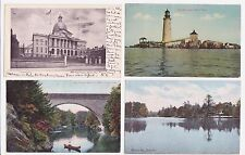 Antique Post Card Lot of 4 Mass.