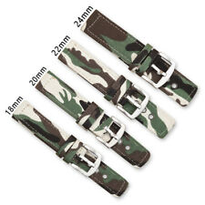 18-24mm Nylon Strap Watch Band Camouflage Replacement Watchband For Watches