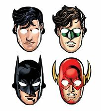 Adventure Filled Justice League Birthday Party Paper Masks Favours Multi - 8