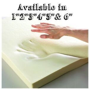 """100 % Orthopeadic Memory Foam Mattress Topper Available in 1"""",2"""",3"""",4"""",5"""" and 6"""""""