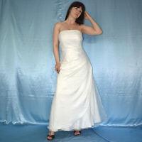 Sans Manches Corsets Robe de Mariée avec Tulle S (38) Ivoire Mariée, Bal