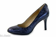 MICHAEL KORS MK FLEX PUMP NAVY BLUE SPARKLE WOMENS SLIP ON SHOES MULTISIZES