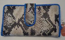 Mundi Ladies Vegas Python Wallet,Blue