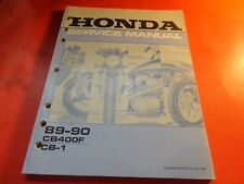OEM FACTORY SERVICE MANUAL HONDA 1989 1990 CB400F CB1 20 CHAPTERS