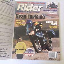 Rider Magazine Gran Turismo  BMW K1200GT  April 2003 060117nonrh2
