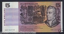 1974 $5 Phillips Wheeler Australia Gothic Centre Serial - UNC