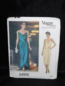 Vintage Vogue 1137 Kasper Dress Size 8 10 12 Party Club Cocktail Uncut Pattern