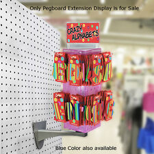 "New Retails Blue Pegboard Extension Display 4""W x 4""D x 12""H"