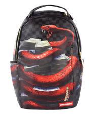 Sprayground Rattle$Tacks Unisex Backpacks, Color: Black/Red