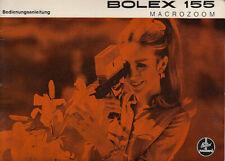 Bolex Bedienungsanleitung für 155 Makrozoom - Anleitung #Su