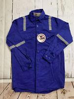 Walls Hi Vis Reflective Enhanced Visibility Long Sleeve Work Shirts Small #B05