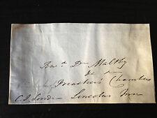 CHARLES JAMES BLOMFIELD - CLERGYMAN & BISHOP OF LONDON - SIGNED ENVELOPE FRONT