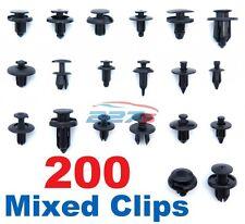 200 Plastic Trim Clip Assortment- Kit of 20 Common Car Fasteners Scrivets Rivets