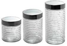 3x Vorratsdose Vorratsglas Zuckerdose Kaffeedose Bonboniere Teedose Glas-Dose