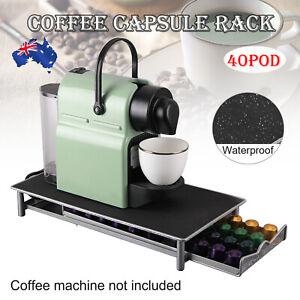 Coffee Capsules Holder Rack 40 Pods Drawer Storage Organizer Stand For Nespres