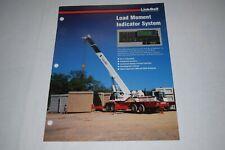 Link Belt Construction Equipment Load Moment Indicator System Sales Brochure