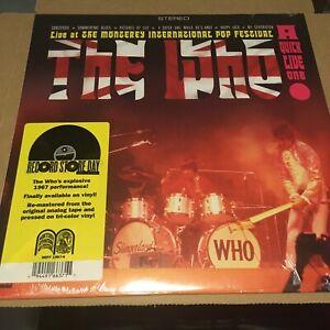 "RSD 2020: THE WHO - A Quick Live One (ltd red/white/blue striped 12"" vinyl) Neu!"