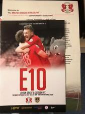 Leyton Orient V Guiseley AFC 02/09/2017 Football programme & teamsheet