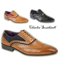 Mens Casual Formal Lace Up Brogue Office Work Shoes In UK Sizes 6 7 8 9 10 11