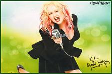 4x6 SIGNED AUTOGRAPH PHOTO REPRINT of Cyndi Lauper