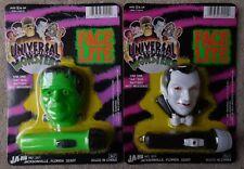 Universal Studios Monsters Dracula & Frankenstein Face-Lite Flashlights Set MIP