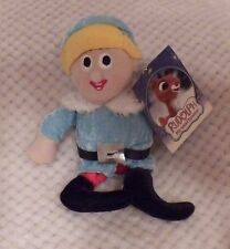 """Hermey the Dentist Elf Rudolph the Red-Nosed Reindeer Plush  8"""" by Nanco NWT"""
