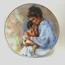 Haviland Limoges Plate 1975 Lim Edition Laura and Child Marian Carlson