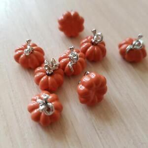 12PCS DIY Jewelry Colorful Enamel Halloweem Pumpkin Alloy Charm Earrings