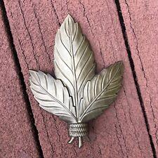 3 Leaf Iron Finials Gold Bronze / Drapery Rod Finial Hardware KIRSCHl Curtain