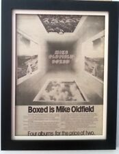 MIKE OLDFIELD*Boxed*1976*ORIGINAL*POSTER*AD*FRAMED*FAST WORLD SHIP