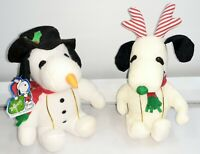 Whitman's Peanuts Snoopy Reindeer Plush & Snoopy Snowman Plush - BOTH!