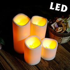 LED Flameless Candle Flame Light Wedding Party Battery Operated Wax Mood Decor