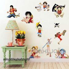 One Piece Manga Comics Wall Stickers Luggage Decals Window Decor Kids Boy Gift