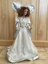 Franklin Heirloom Dolls: The Heralding Angel Porcelain & Fabric Tree Topper Ib